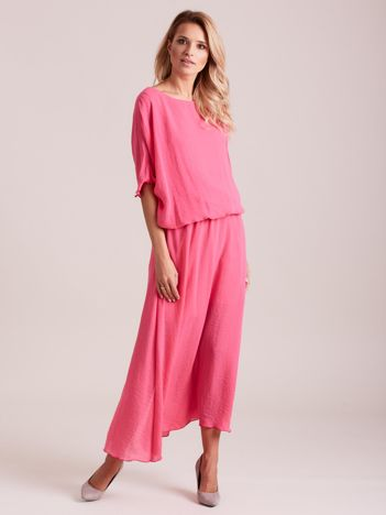 Długa zwiewna sukienka różowa