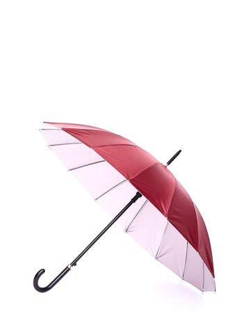 Długi bordowy parasol