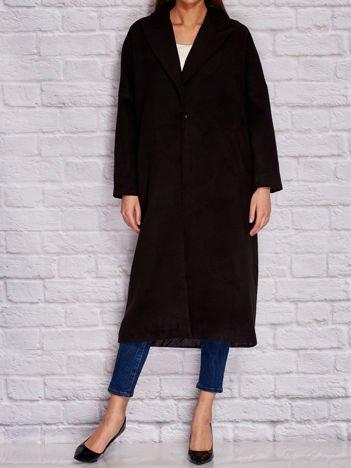 Długi płaszcz damski czarny