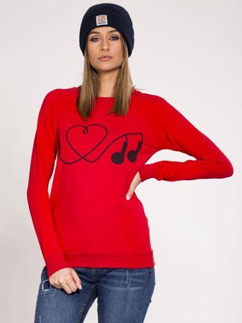 Dresowa bluza damska czerwona