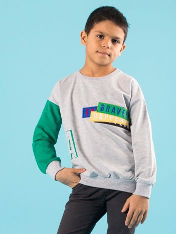 Dresowa bluza dla chłopca z naszywką