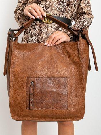 Duża jasnobrązowa torba damska