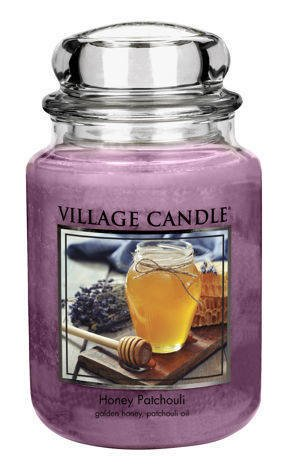 Duża świeca zapachowa Village Candle 645 gr - Honey Patchouli