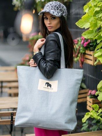 Duża szara uniwersalna torba