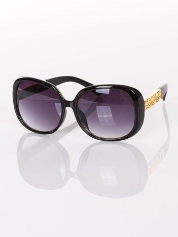 """Duże czarne eleganckie okulary przeciwsłoneczne """"MUCHY"""""""