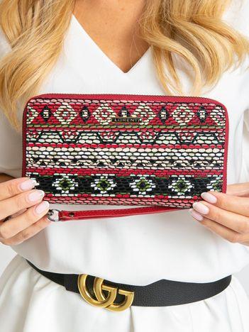 Duży portfel damski w kolorowe wzory
