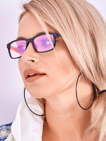 Dwukolorowe Okulary Zerówki Z Powłoką Antyrefleksyjną i Systemem Flex Na Zausznikach