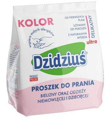 Dzidziuś Proszek do prania pieluszek, bielizny, odzieży niemowlęcej i dziecięcej Kolor 850 g