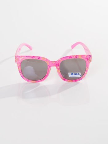 Dziecięce jasno-różowe okulary odporne na wyginania z filtrami
