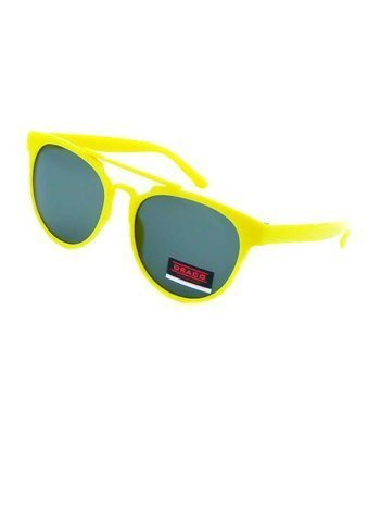 Dziecięce okulary przeciwsłoneczne żółte z filtrami