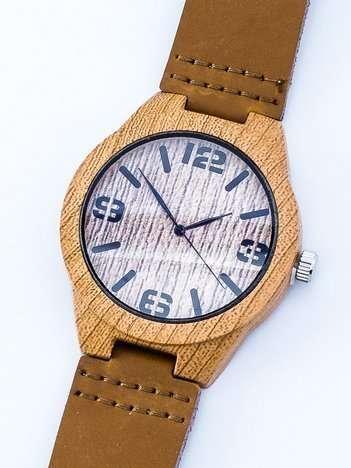 ECO Elegancki Drewniany Zegarek ze Skórzanym Paskiem