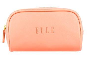 ELLE Kosmetyczka kompaktowa brzoskwiniowa