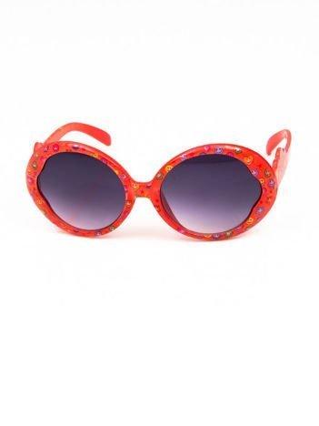 EMOJI Dziecięce przeciwsłoneczne okulary z filtrami EMOTICONS malinowy