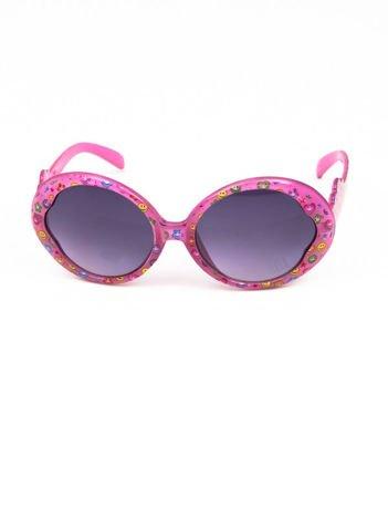 EMOJI Dziecięce przeciwsłoneczne okulary z filtrami EMOTICONS różowy