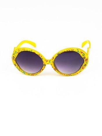 EMOJI Dziecięce przeciwsłoneczne okulary z filtrami EMOTICONS żółte