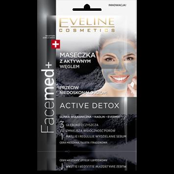 EVELINE FACEMED+ Active Detox MASECZKA Z AKTYWNYM WĘGLEM przeciw niedoskonałościom 10 ml
