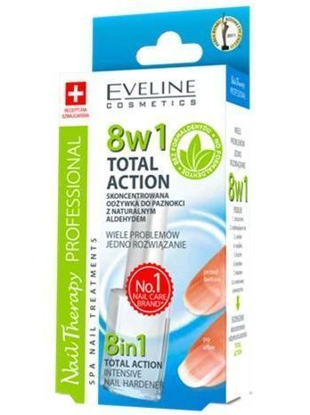 EVELINE Nail Therapy 8w1 Sensitive Odżywka do paznokci z kwarcem 12 ml
