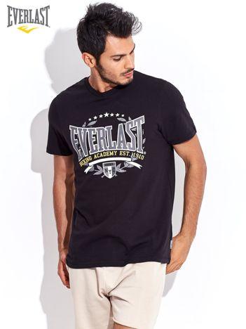 EVERLAST Czarny t-shirt męski z wyrazistym nadrukiem