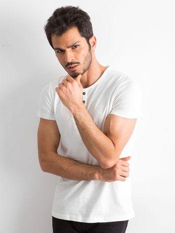 Ecru bawełniana koszulka męska