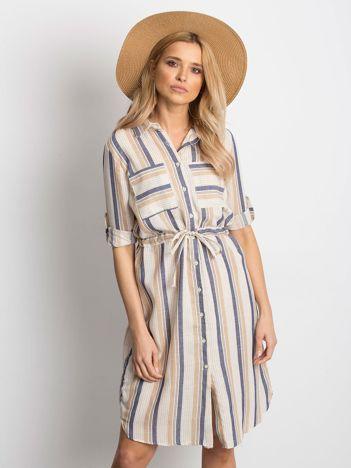 78d0352d95 Ecru-beżowa sukienka Versatile
