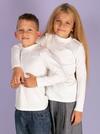 Ecru bluzka dziecięca z półgolfem