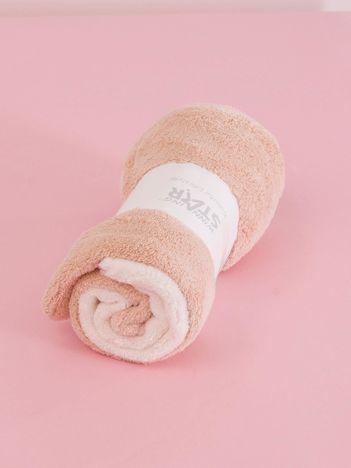 Ecru-brzoskwiniowy komplet ręczników frotte do rąk 2 sztuki