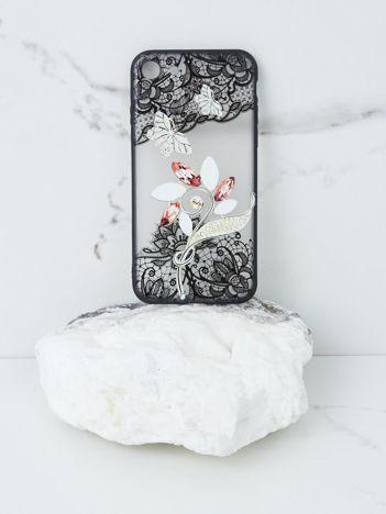 Ecru-czarne etui do iPhone 6 Plus