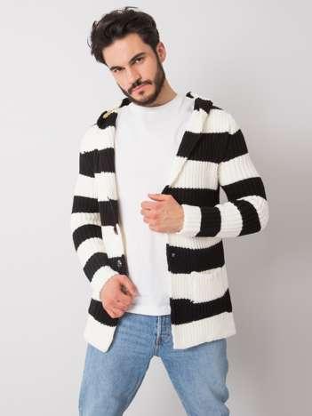 Ecru-czarny sweter męski Lawrence