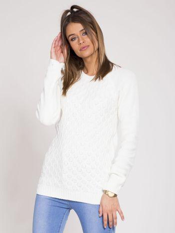 Ecru damski sweter