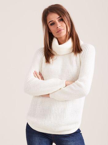 Ecru damski sweter golf