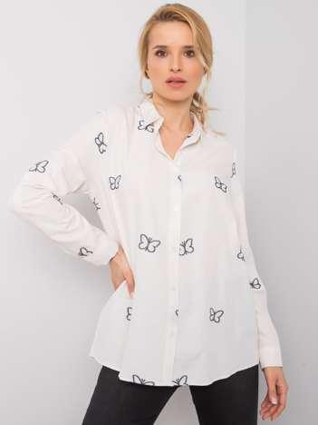 Ecru koszula z haftem Kyra RUE PARIS