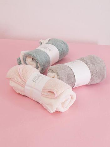 Ecru-łososiowy komplet ręczników frotte do rąk 2 sztuki