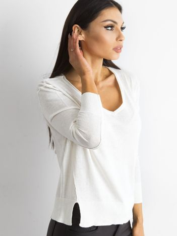 Ecru luźny damski sweter