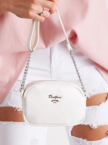 Ecru mała torebka z paskiem