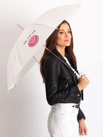 Ecru parasol półautomatyczny