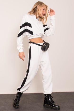 Ecru spodnie dresowe BSL