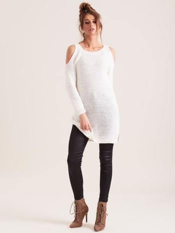 Ecru sweter cold arms