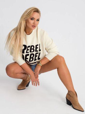 Ecru sweter plus size Rebel