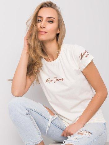 Ecru t-shirt Alaina RUE PARIS