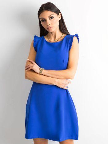 Elegancka sukienka kobaltowa