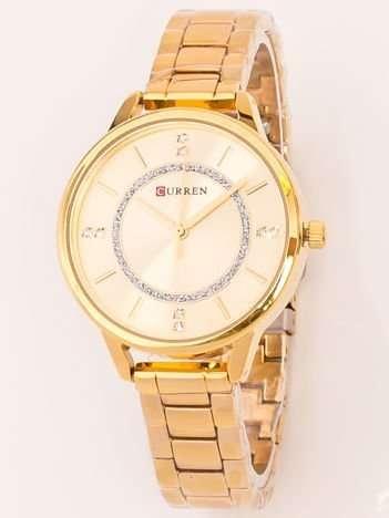 Elegancki Złoty Zegarek Damski Z Japońskim Mechanizmem