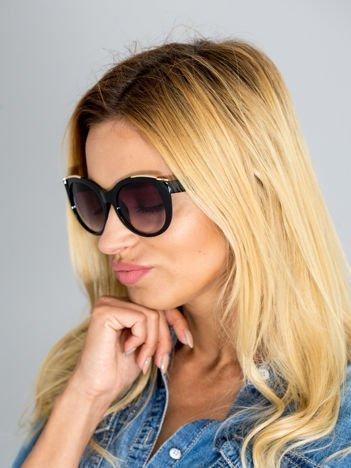 Eleganckie okulary przeciwsłoneczne KOCIE OCZY