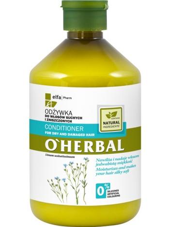 Elfa Pharm O'Herbal Odżywka do włosów suchych i zniszczonych z lnem 500 ml
