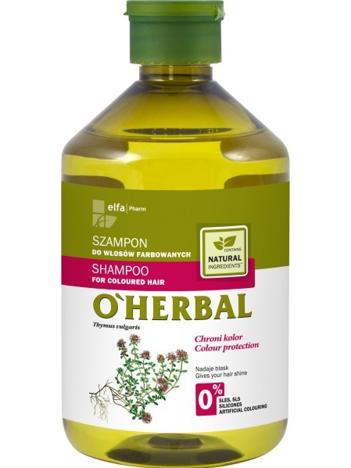 Elfa Pharm O'Herbal Szampon do włosów farbowanych z macierzanką i tymiankiem 500 ml