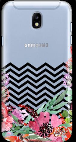 Etui do telefonu Samsung Galaxy J7 2017 Flowers & Zigzaks