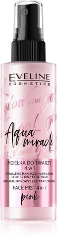 """Eveline Glow and Go! Aqua Miracle Mgiełka utrwalająca do twarzy 4w1 nr 02 pink  110ml"""""""