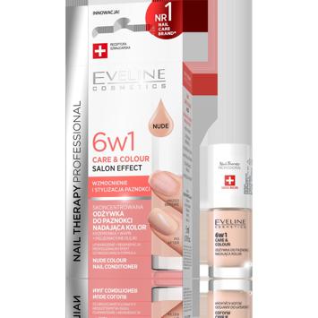"""Eveline Nail Therapy Odżywka do paznokci nadająca kolor 6w1 NUDE  5ml"""""""