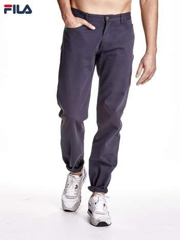 FILA Grafitowe spodnie męskie ze stretchem