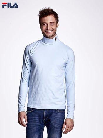 FILA Jasnoniebieska bluzka męska z golfem