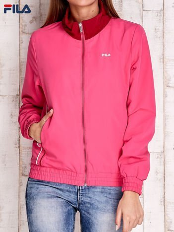FILA Różowa bluza z kontrastową stójką